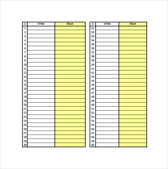 Wrestling Score Sheet Baseball Scoresheet Free Download – Wrestling Score Sheet