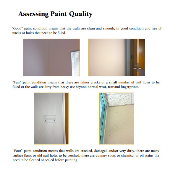 Paint Estimate Guide Template