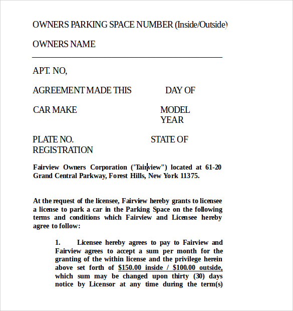 Lease Template Word 20Format Download