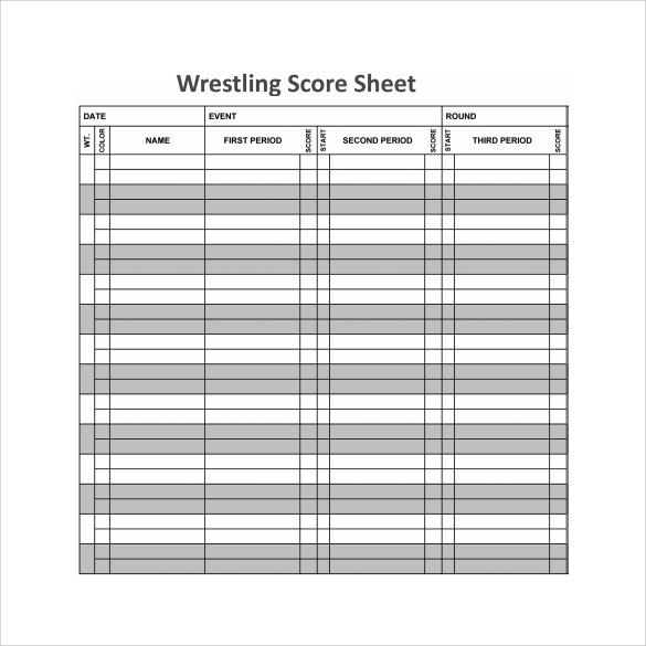 printable wrestling score sheet