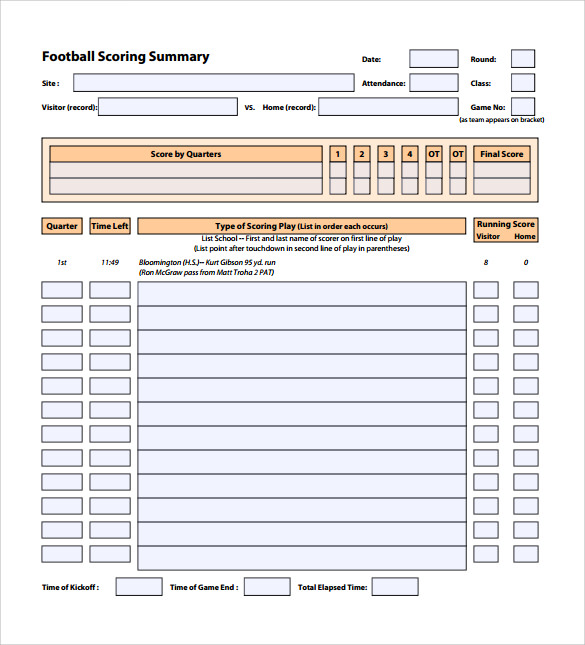 printable football score sheet