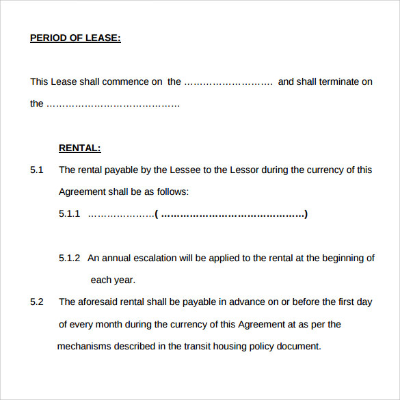 Memorandum Of Lease Agreement Samples , Examples & Format - 7+