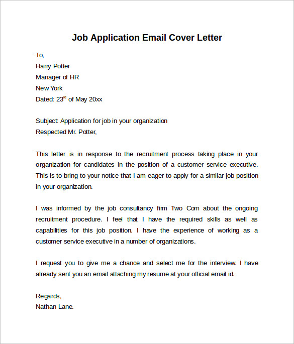 Sample Cover Letter Applying For A Job Samples Of Resume: 7+ Free Samples, Examples & Formats