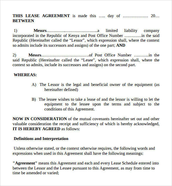 Sample Business Lease Agreement - 3+ Documents In Pdf, Word