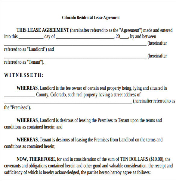 Tenant Lease Agreement Samples  Examples  Format  Download