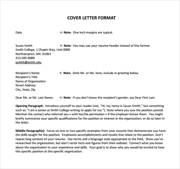 Job Application Cover Letter 8 Samples Examples Formats