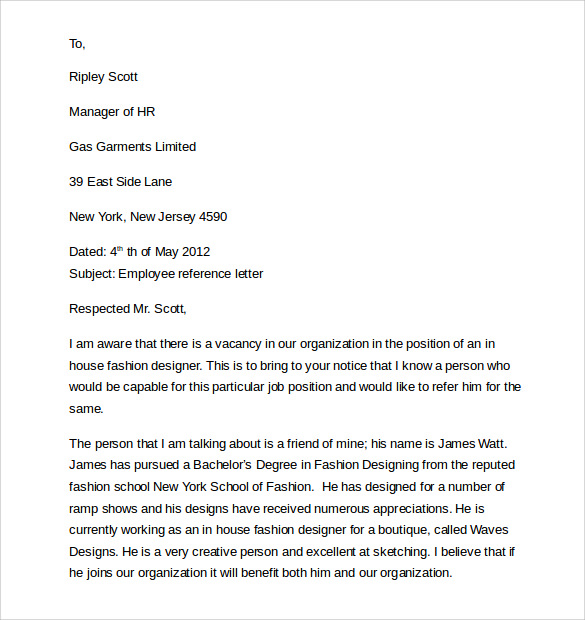 example of employment cover letter1