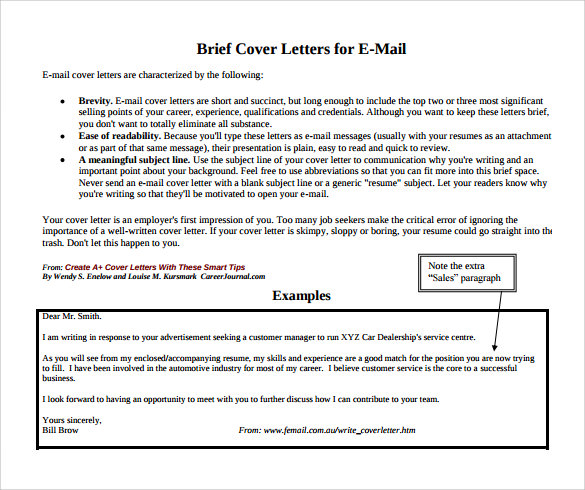 9 Job Application Cover Letter Samples Examples