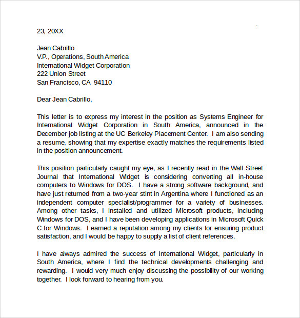 Warehouse shipping receiving cover letter