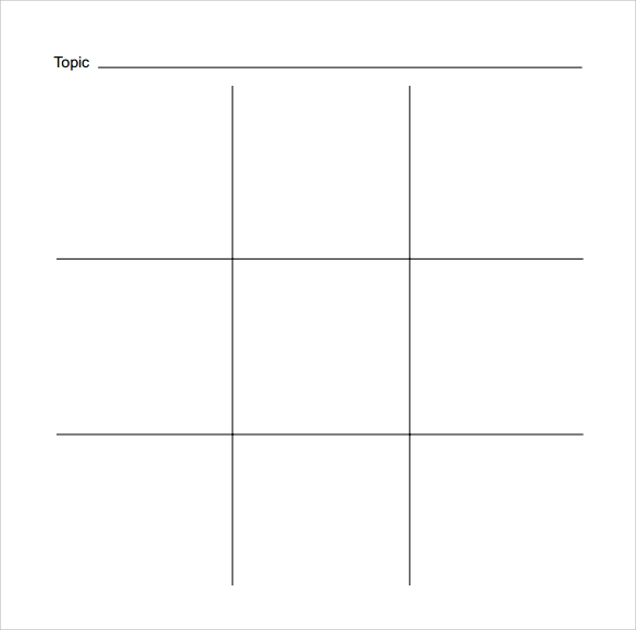 Sample TicTac Toe Template   Free Documents In Pdf  Doc