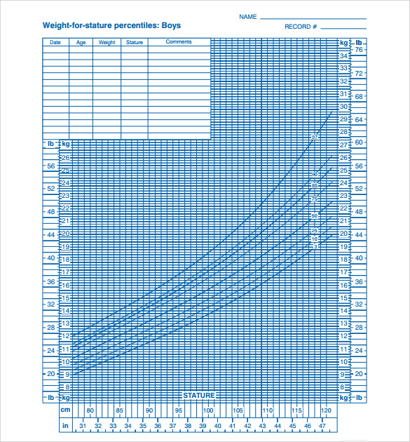 Sample Baby Size Chart Templates