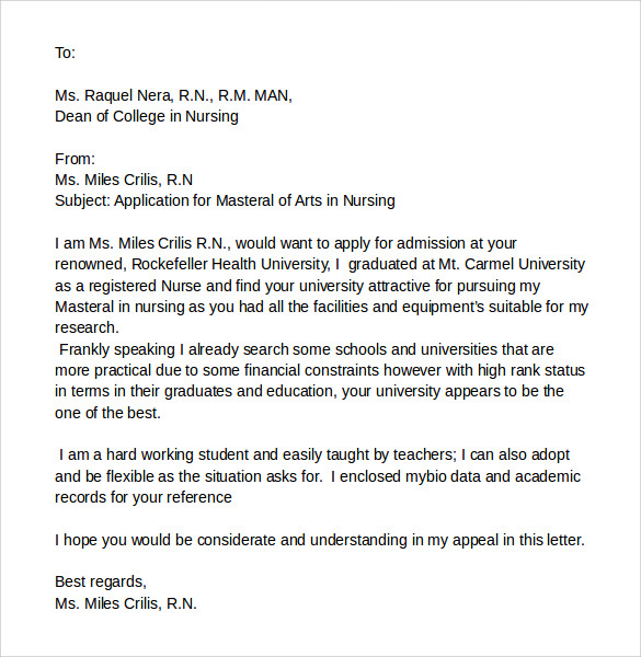 College Application Withdrawal Letter Sample
