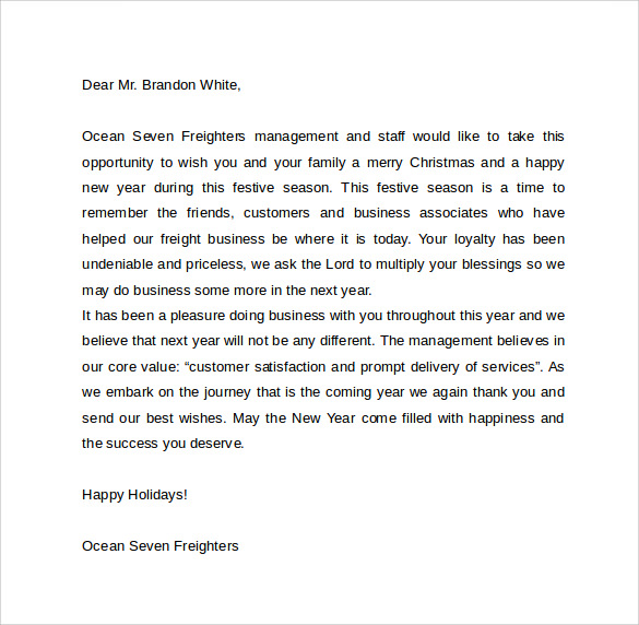Sample Thank You For Your Business Letter Free