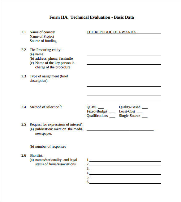 technical evaluation template - 28 images - 16 sle technical report ...