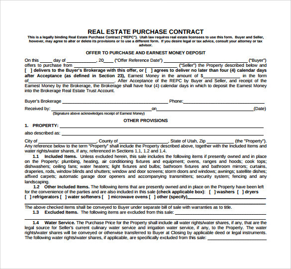 real estate purchase contract1