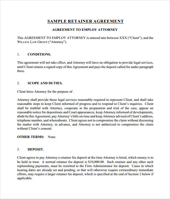 Retainer Agreement Template Heres A Cold Email I Sent Author