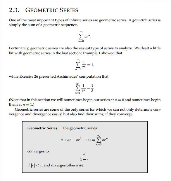 Geometric Progression, Series & Sums