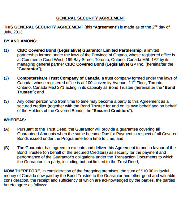 general security agreement
