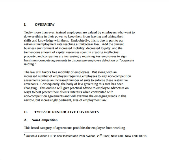 Sample Non Compete Agreement 7 Documents In Pdf Word