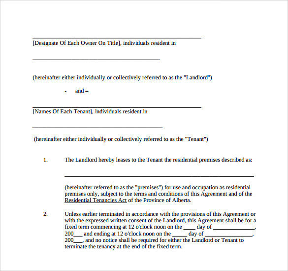house lease agreement1