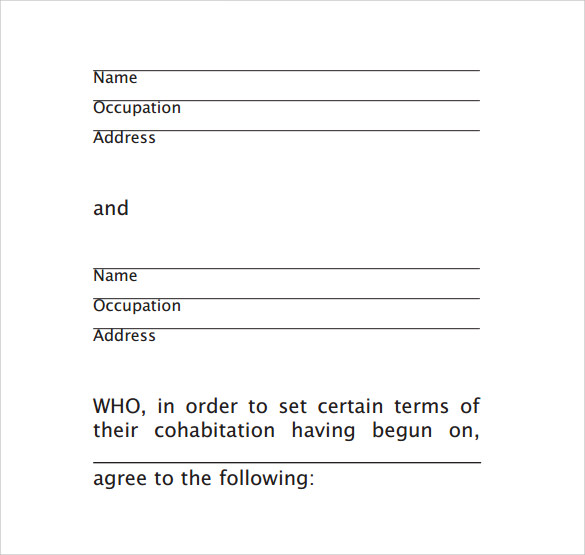 Sample Cohabitation Agreement Template Is For You And Your Attorney As A  Guide. You Can Adjust It To Reflect Your Needs But Over All A Very Useful  Guide.