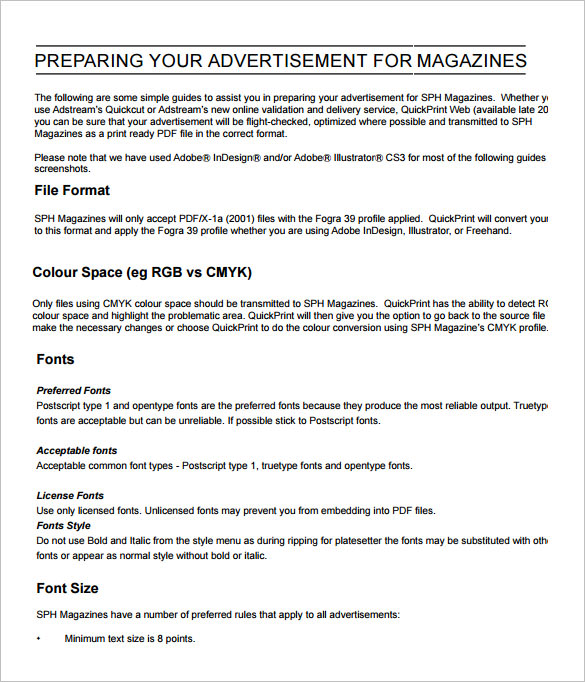 free sample newspaper ad template1