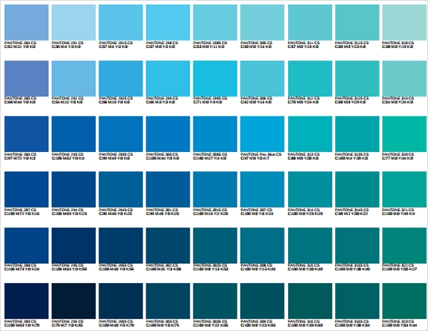 Color Chart Template. Split Primary Palette Chart Template Digital