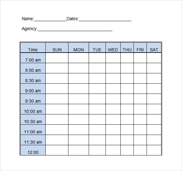 daily log template download in word
