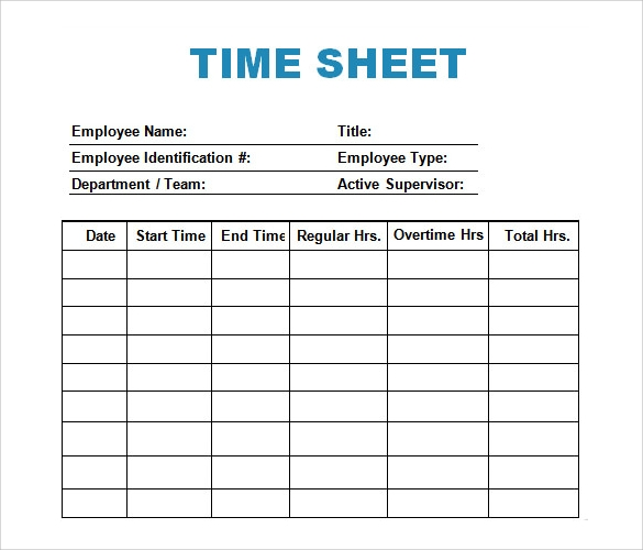 time log template sample download