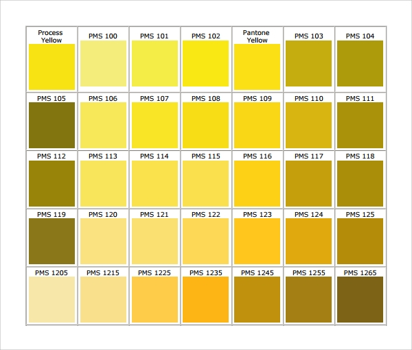Sample Chart Template Download Free Documents in PDF Word Excel – Color Chart Template