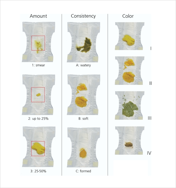 stool color chart template pdf