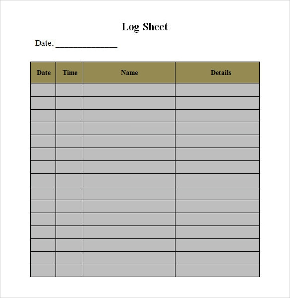 log sheet - Hoss.roshana.co