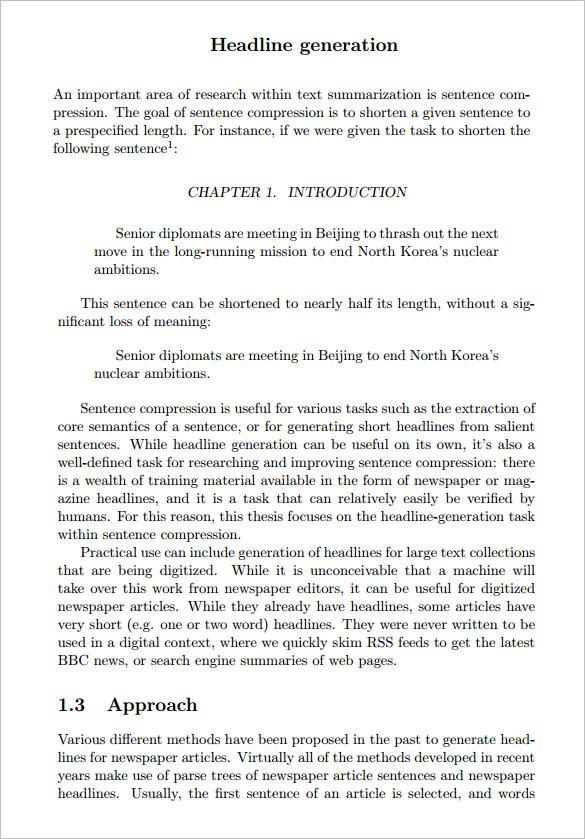 Newspaper Headline Sample 6 Documents In Pdf Word