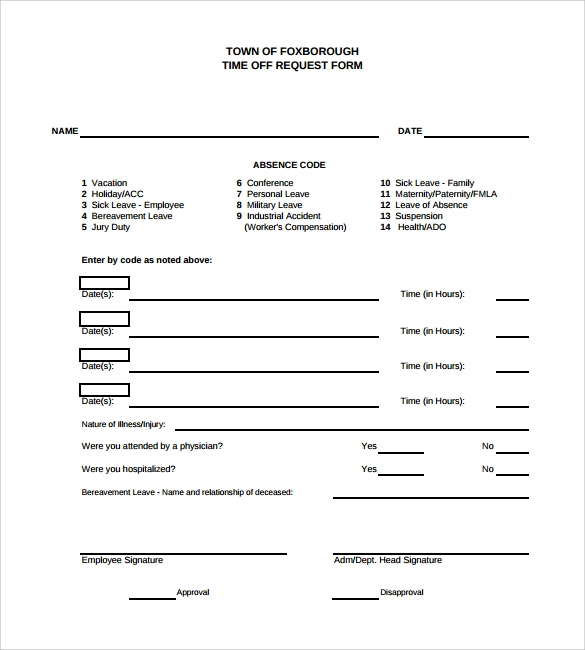 Absence request form leave of absence letter format premierme request for leave form template leave request forms templates spiritdancerdesigns Image collections