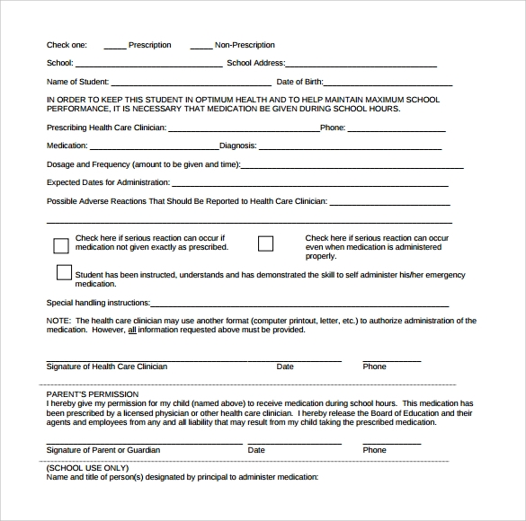 15 school medical form templates to download for free sample templates school medical form sample download altavistaventures Choice Image