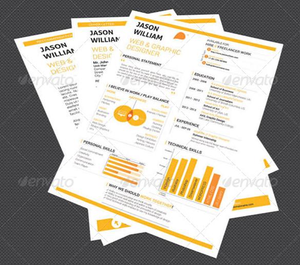 indesign format designer resume