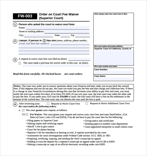 Sample Superior Service Application Form - 11+ Download Free