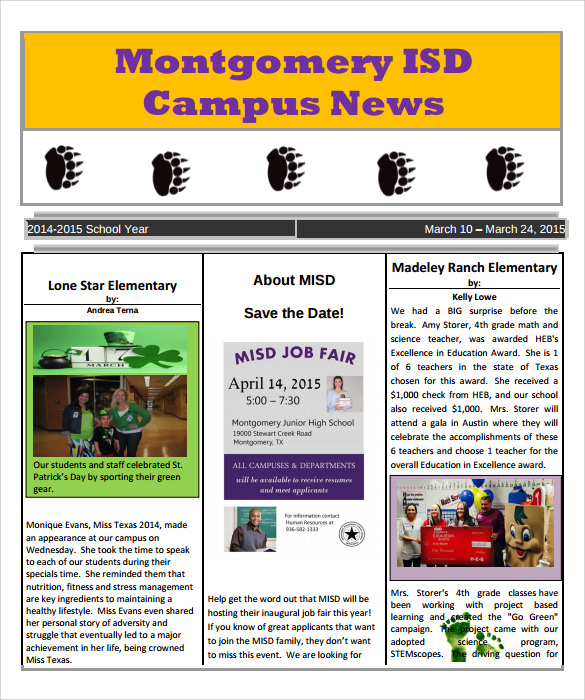 school newspaper template 7 download documents in pdf psd word sample templates. Black Bedroom Furniture Sets. Home Design Ideas
