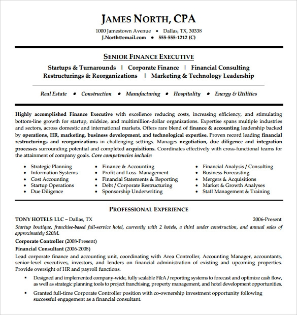 9 Consultant Resume Templates Samples Examples Format Sample