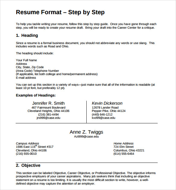 consultant resume template 8 free samples examples format
