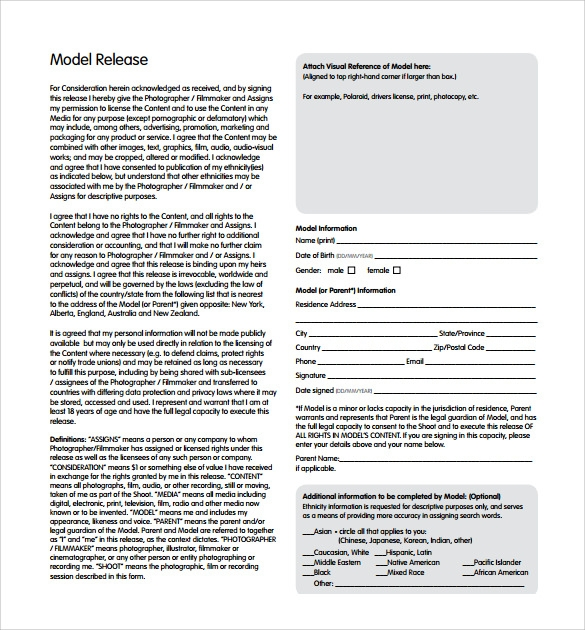 model release document