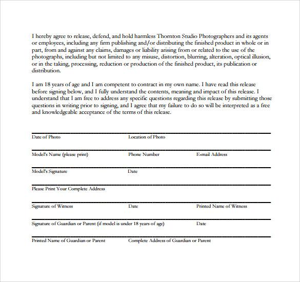 model release form 1