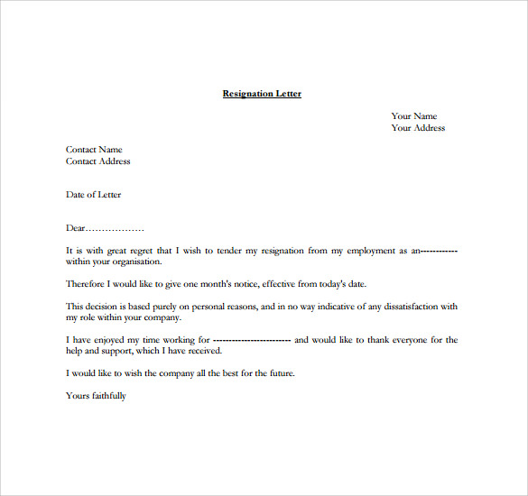 Resignation Letters Reminders How To Write A Resignation Letter