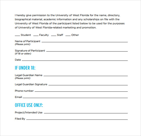 Video Release Form   Samples  Examples  Format
