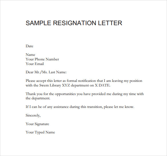 how to write resignation letter from teaching job 9 resignation letters samples examples amp formats 19470