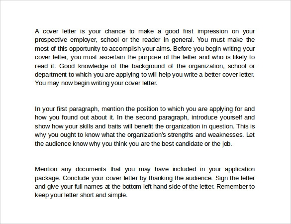 Cover letter weaknesses