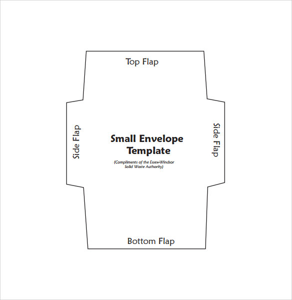 Sample Small Envelope   Example Format
