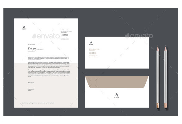 Sample Business Envelope   Documents In Word  Psd