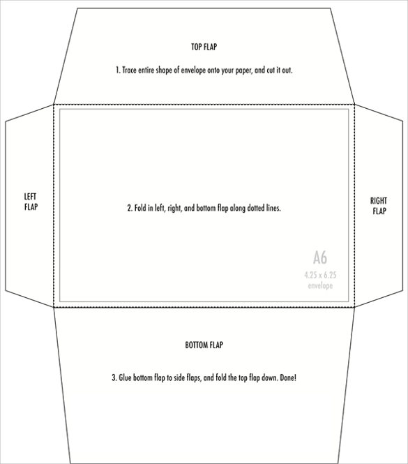 4x6 large envelope template printable