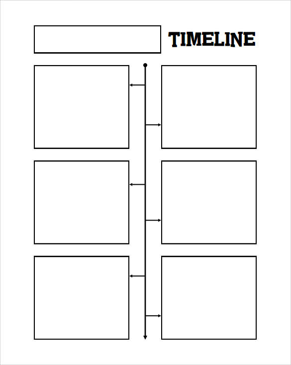 Blank Timeline Template   Free Samples Examples  Formats
